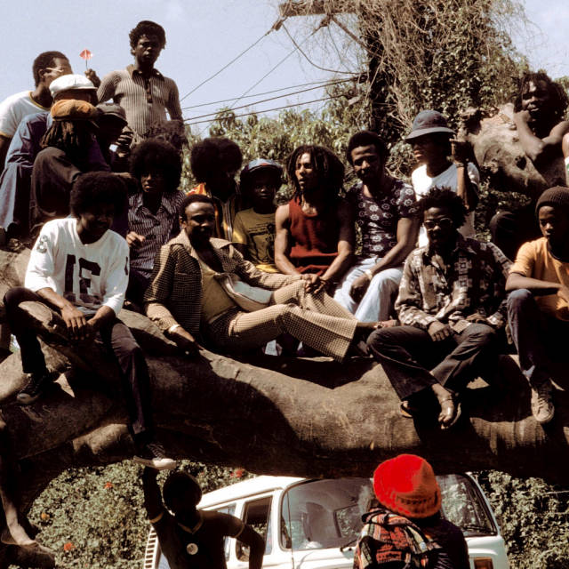Bob Marley with Michael Jackson (try and spot him)